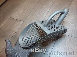 2 Pcs. Beach Sand Scoop Universal Metal Detector Sea Tool Stainless Matte Steel