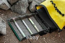 3 pc Set Waterproof Gold Panning Backpack Sluice Box Neoprene& Mesh Gold Pan Bag