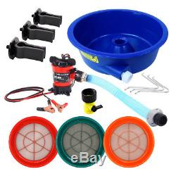 Blue Bowl Concentrator Deluxe Gold Kit with Pump, Leg Levelers and 3 Classifiers