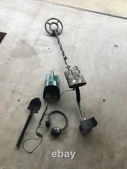 Bounty Hunter Ultra Mag Camo Sharp Shooter II Metal Detector With Accessories
