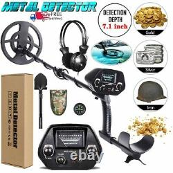 Deep Ground Metal Detector with 8 inch Waterproof Coil & 3 Accessories FREE