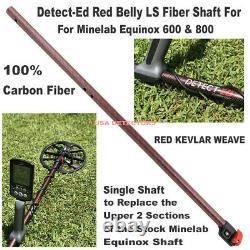 Detect-Ed Red Belly LS Carbon Fiber Shaft For EQUINOX 600 & 800 Metal Detectors