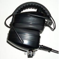 DetectorPro Black Widow Headphones with 1/4 Angle Plug for Metal Detector
