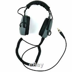 DetectorPro Gray Ghost Amphibian II Waterproof Headphones for Minelab Equinox