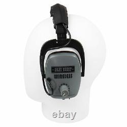 DetectorPro Gray Ghost Platinum Series Wireless Headphones for Garrett AT Pro