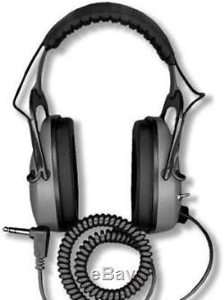 DetectorPro Original Gray Ghost Headphones Metal Detectors with 1/4 Angle Plug