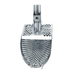 Dune Poseidon 10x5 S Steel Metal Detector Sand Scoop Hexagon Holes withHandle