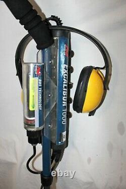 Excalibur 1000 metal detector New 1600mah Battery new seals tested in pool