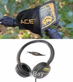 GARRETT ACE 300 Metal Detector with Headphones Rain Cover Waterproof Coil NEW
