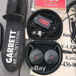 GARRETT AT PRO METAL DETECTOR with accessories Z-link+3 wired headphones, digger