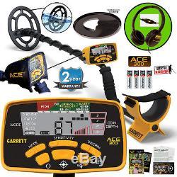 Garrett ACE 300 Metal Detector, Free Accessories, Headphones, Waterproof Coil ++