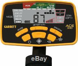 Garrett ACE 300 Metal Detector Waterproof Coil/Headphones/Free Acces GAR1141150