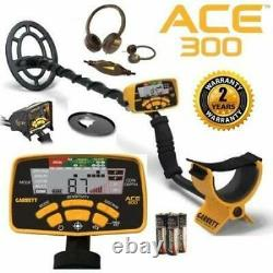 Garrett ACE 300 Metal Detector with Searchcoil and 3 Accessories Open Box
