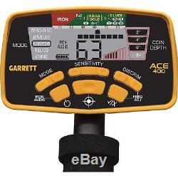 Garrett ACE 400 Metal Detector, Free Accessories, Waterproof Coil, USA Version
