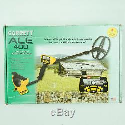 Garrett ACE 400 Metal Detector with 8.5 x 11 DD Waterproof Coil & 2 Accessories