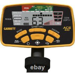 Garrett ACE 400 Metal Detector with 8.5 x 11 DD Waterproof Coil FREE Accessories