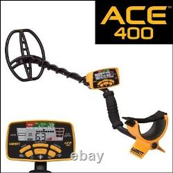 Garrett ACE 400 Metal Detector with Searchcoil and 3 Accessories Open Box