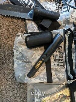 Garrett AT Pro Metal Detector Kit + Pro Pointer II, Case, Shovel, Accessories