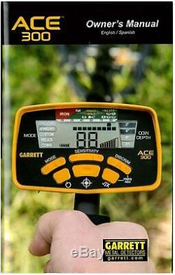 Garrett Ace 300 Metal Detector with Waterproof Coil, Headphones + FREE Accessories