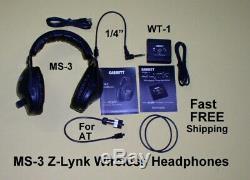 Garrett MS-3 Wireless Z-Lynk Headphone Kit for Metal Detector FREE Shipping