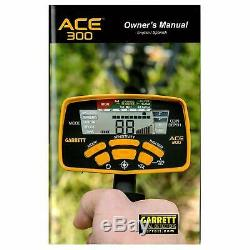 Garrett Refurbished ACE 300 Metal Detector with Searchcoil and 3 Accessories