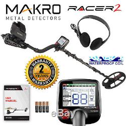 Makro Racer 2 Metal Detector Standard Package with 11 x 7 Waterproof Coil
