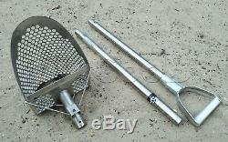 Metal Detecting Sand Scoop Hunting Tool Shovel +Collapsible Handle HEX -10 CooB