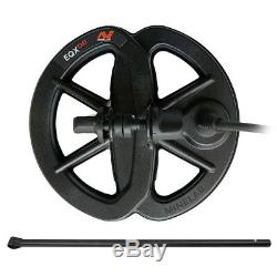 Minelab 6 EQX 06 DD Waterproof Coil & Lower Rod for Equinox 600 800 Detectors