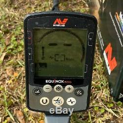 Minelab EQUINOX 600 Multi-IQ Underwater Metal Detector & EQX 11 DD Used