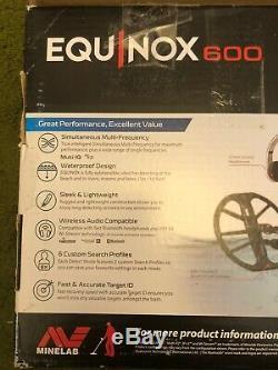 Minelab Equinox 600 Metal Detector Newithdamaged box
