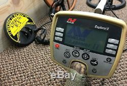 Minelab Explorer II Metal Detector with Extras