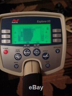 Minelab Explorer XS Metal detector Carbon fiber shaft extra 8coil Works Perfect