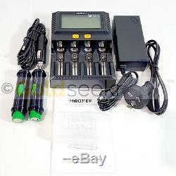 Minelab SDC2300 PROSPECTOR Li-ion Battery Kit 2x18650 3500mA 12A 12/240v Charger