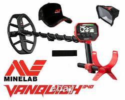 Minelab Vanquish 340 Multi Frequency Metal Detector with free accessories