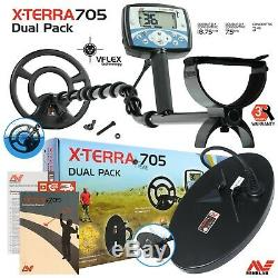 Minelab X-Terra 705 Gold pack Dual Coils Metal Detector