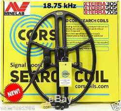 New CORS CANNON 14.5x10.5 DD coil 18.75 kHz for Minelab X-Terra 305/505/705/74
