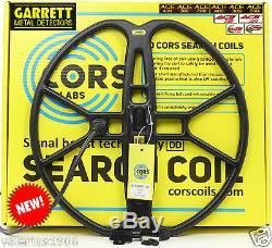 New CORS FIRE 15x15 DD coil for Garrett ACE 150/250/350/200/300/400/Euro + acc