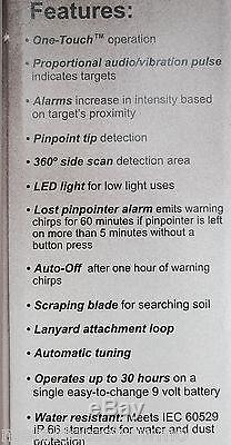 New GARRETT PRO POINTER II Metal Detector Pinpointer, SAME DAY SHIPPING