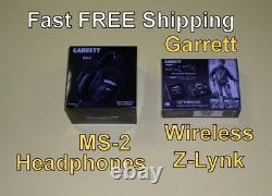 New Garrett MS-2 Headphones Z-Lynk Wireless Kit use with your Metal Detector