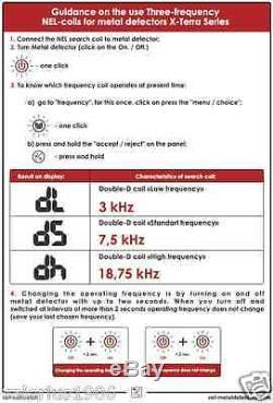 New NEL STORM 13x14 DD coil for Minelab X-Terra 3 freq 3kHz 7.5kHz 18.75kHz