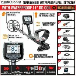 Nokta Anfibio Multi Frequency Metal Detector with Free Pinpointer & Accessories