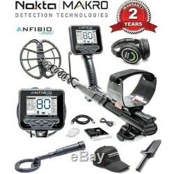 Nokta Anfibio Multi Frequency Metal Detector with Free PulseDive and Accessories