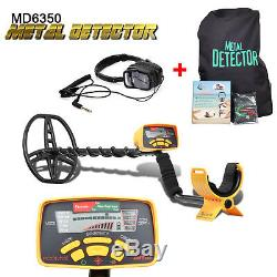 Pro MD-6350 Metal Detector Underwater Waterproof Gold Digger with Headphones