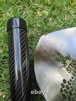 SITO- 200mm (7.75) Wide (Mixed Round Holes) Sand Scoop + 1m Carbon Handle