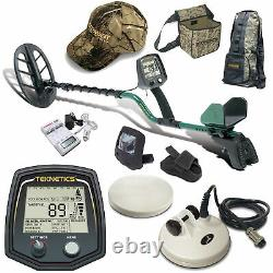 Teknetics T2 Classic Metal Detector with 11 DD Search Coil and Accessory Bundle