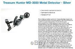 Treasure Hunter MD-3030 Metal Detector Silver With Accessories BNIB