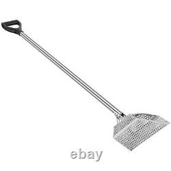 VEVOR Metal Detector Sand Scoop Hunting with 50 Long Stainless Steel Handle Pole