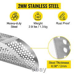 VEVOR Tough Stainless Steel Metal Detector Sand Scoop with Carbon Fiber Handle