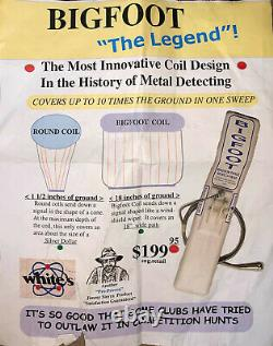 White's BIGFOOT Metal Detector Coil The Legend 18 Wide Used Twice