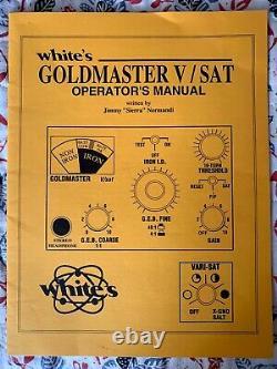 White's Gold Master V/SAT Metal Detector with Chest Harness, Whites Goldmaster